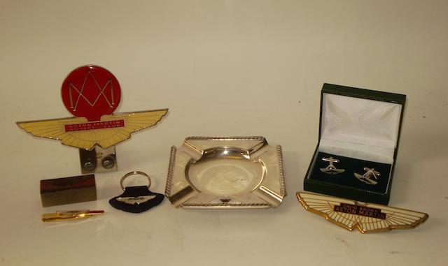 Assorted David Brown Aston Martin items,