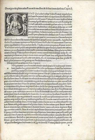 SOLINUS (GAIUS JULIUS) Polyhistor, sive De mirilibus mundi, Brescia, J. Britannicus, 1490 [but Venice, after 1500]