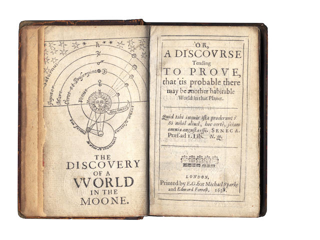WILKINS (JOHN)] The Discovery of a World in the Moone. Or, a Discourse Tending to Prove 'tis Probable There May Be Another Habitable World in That Planet, 1638