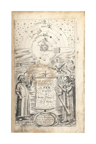 WILKINS (JOHN) The First Book. The Discovery of a New World or, a Discourse Tending to Prove, That tis Probable There May Be Another Habitable World in the Moone. With a Discourse Concerning the Possibility of a Passage Thither. The Third Impression. Corrected and Enlarged, 1640