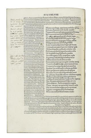 STATIUS (PUBLIUS PAPINIUS) Opera, Venice, 1483