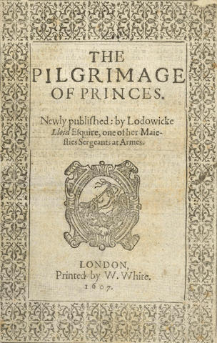 LLOYD (LODOWICK) The Pilgrimage of Princes, 1607