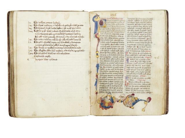 GREGORY I, Saint and Pope. Dialogi de vita et miraculis patrum Italicorum.II: BONAVENTURA:Legenda Minor and Legenda Maior of the Life of St Francis, 2 works in one, [c.1350]