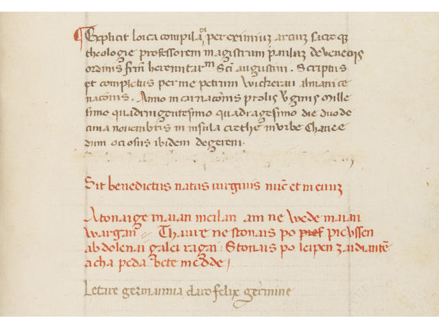 PAUL of Venice. Logica parva [dated and signed by the German scribe Peter Wickerau], 1440