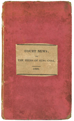 GEOLOGY [SCAFE (JOHN)] King Coal's Levee, or Geological Etiquette...and the Council of Metals, 1891; and another (2)