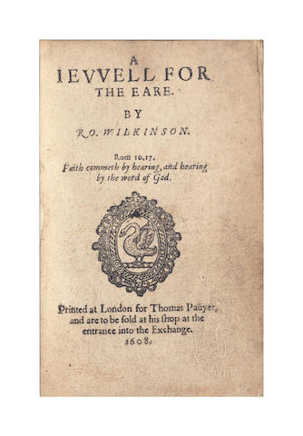 WILKINSON (ROBERT) A Jewell for the Eare, 1608