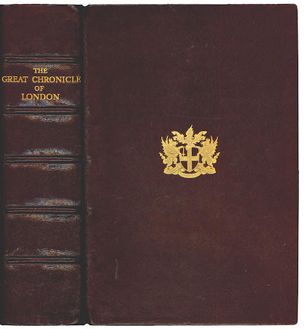 LONDON THOMAS (A.H.) and I.D. THORNLEY. The Great Chronicle of London, NUMBER 233 OF 500 COPIES, 1938
