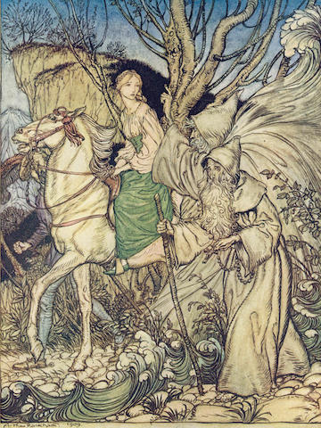 RACKHAM (ARTHUR) LA MOTTE-FOQUE (FRIEDRICH H.C. DE) Undine, NUMBER 566 OF 1000 COPIES, 1909
