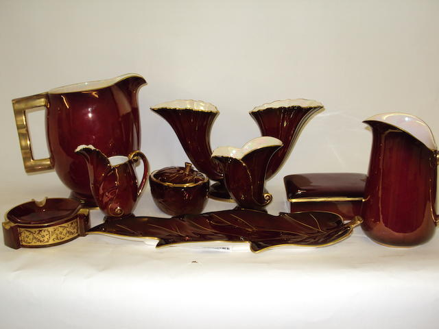 """A collection of Carlton Ware """"Rouge Royale"""" items"""