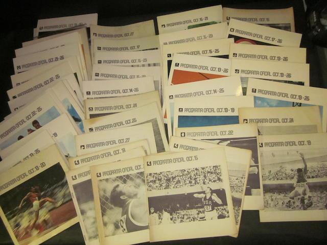 1968 Mexico Olympics programmes