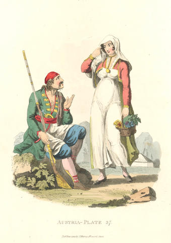 AUSTRIA, COSTUME ALEXANDER (WILLIAM) Picturesque Representations of the Dress and Manners of the Austrians. [1813]