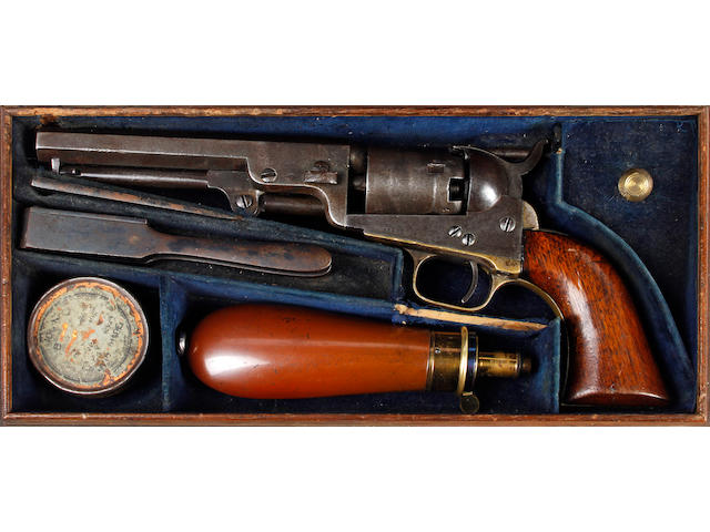 A Cased 1849 Model Five-Shot Percussion Revolver
