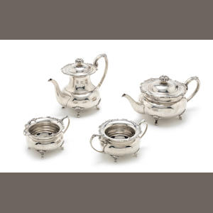 ***Apply for article 10*** A  silver four-piece tea and coffee service by Cooper Bros & Sons, Sheffield 1968  (4)