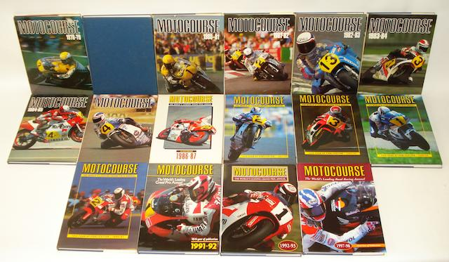 Sixteen Motocourse annuals,