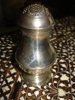 A George II silver pepper pot London 1740