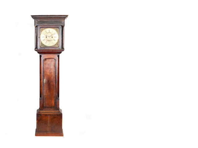 A mid 18th century and later longcase clock  Inscribed AD, MCOSTEN, Kirkham