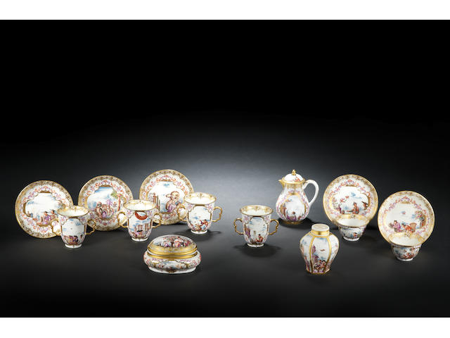 The 'Half-Figure Service': a highly important group of Meissen teawares, circa 1723-24