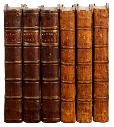 SHAFTESBURY (ANTHONY ASHLEY COOPER, 3rd Earl)  Characteristicks of Men, Manners, Opinions, Times, 3 vol., 1714; and 3 by Cowley (6)