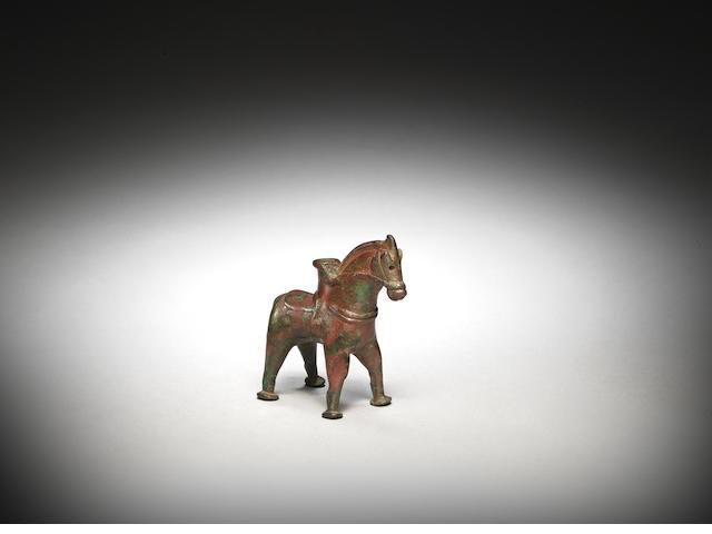 A Sasanian bronze cosmetic vessel