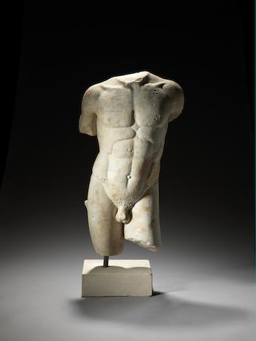 A Roman marble torso of a man