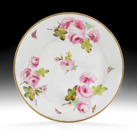 A rare Swansea plate, circa 1815-17