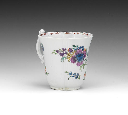 A Worcester coffee cup, circa 1755-57