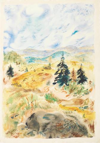 George Grosz (German, 1893-1959) Adirondack landscape