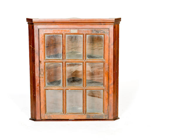 A Scottish 19th century hanging corner cabinet