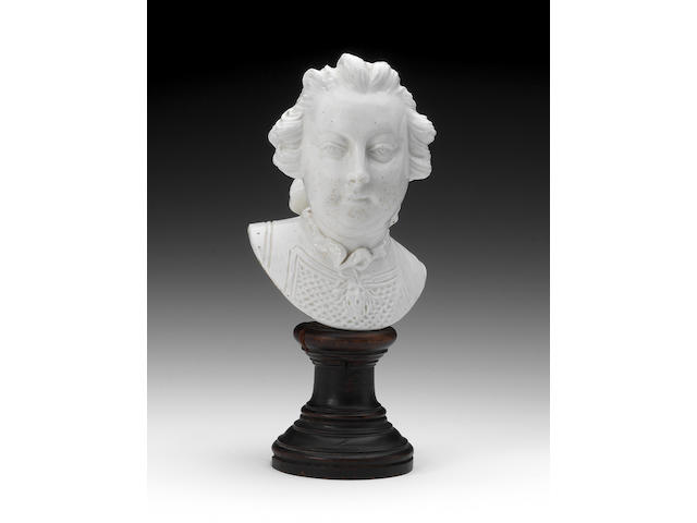A Chelsea bust of William, Duke of Cumberland, circa 1750-52