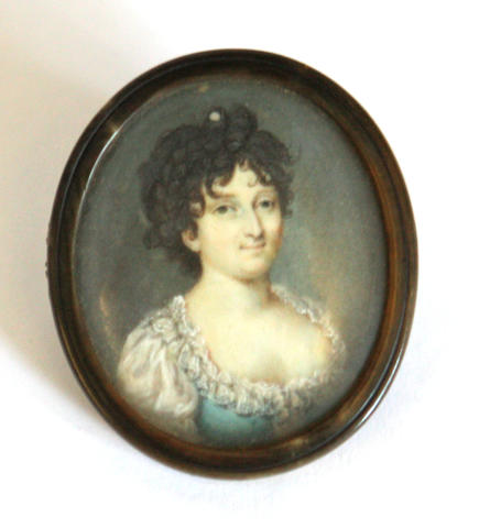 A 18th century portrait miniature of a young lady