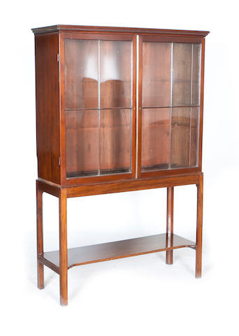 A 19th century and later display cabinet
