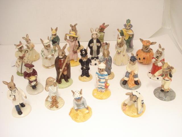 A collection of Royal Doulton Bunnykins figures