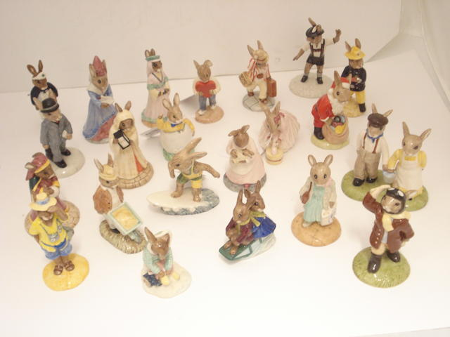 A collection of Royal Doulton Bunnykins figures
