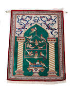 Five Persian silk rugs