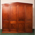 A 19th century mahogany wardrobe