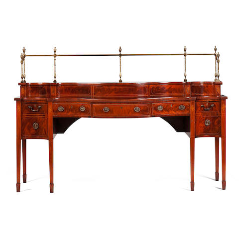 A George III Scottish mahogany stage-back sideboard, circa 1780