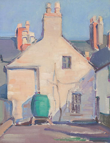 Dorothy Johnstone (British, 1892-1980) A close in Kirkcudbright 30 x 22cm