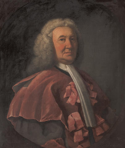 William Millar Portrait of Andrew MacDougall (or MacDowell, McDouall), Lord Bankton (1685-1760), half length, wearing legal robes 76 x 63cm