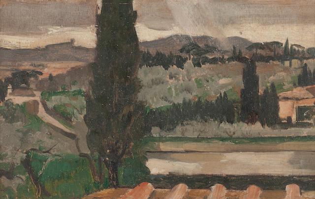 Derek Hill Settignano Landscape 12 x 19cm