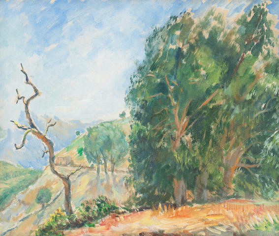 Alexander Zyw (1905-1995) Corsica, The Dead Tree