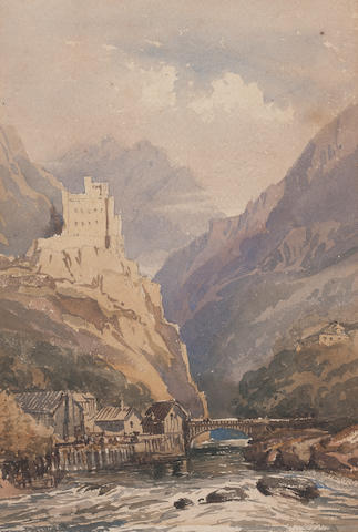 Sir Thomas Buchan-Hepburn In the Pyrenees, a pair<BR />watercolour<BR />each 17 x 25cm <BR />And another watercolour (3)