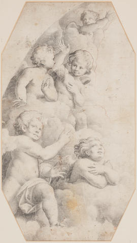 Francesco Bartolozzi, after Raphael Angels 34 x 19cm
