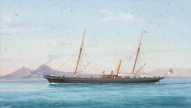 ** de Simone RYS Titania in Naples harbour 25 x 48cm