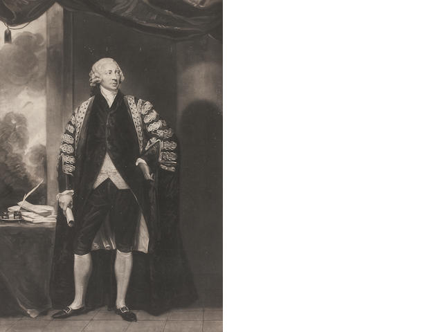 A collection of four decorative engravings To include Marquis Wellesley, The Rt. Hon. Henry Dundas, The Rt. Hon. William Pitt an another (4) 41cm x 66.5cm