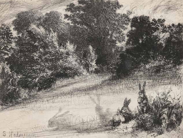 Francis Seymour Haden (British, 1818-1910) Hares
