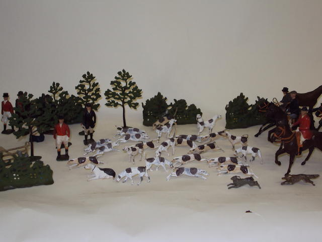 A collection of Britains Ltd lead toys, hunting set