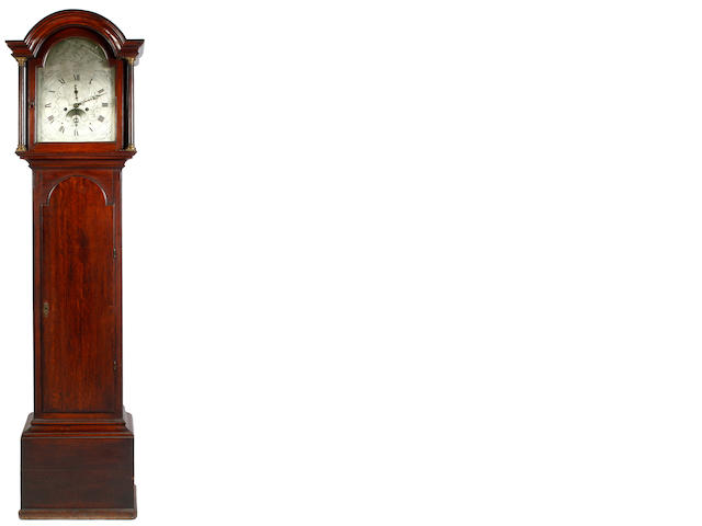A George III oak long case clock