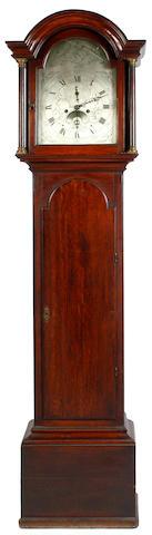 A George III oak long case clock