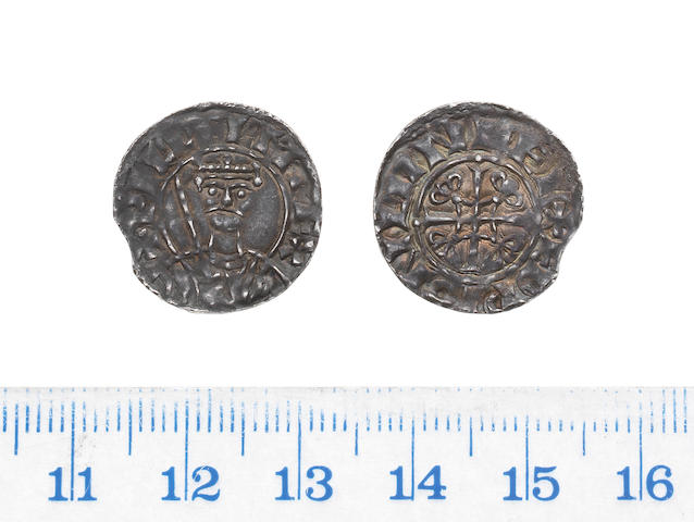 William I (1066-1087), Penny, 1.27g, London, sword type, crowned bust facing, holding sword in right hand,
