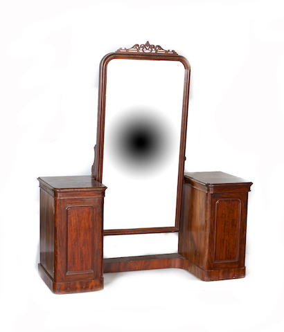 A Scottish mid-19th century mahogany dressing table
